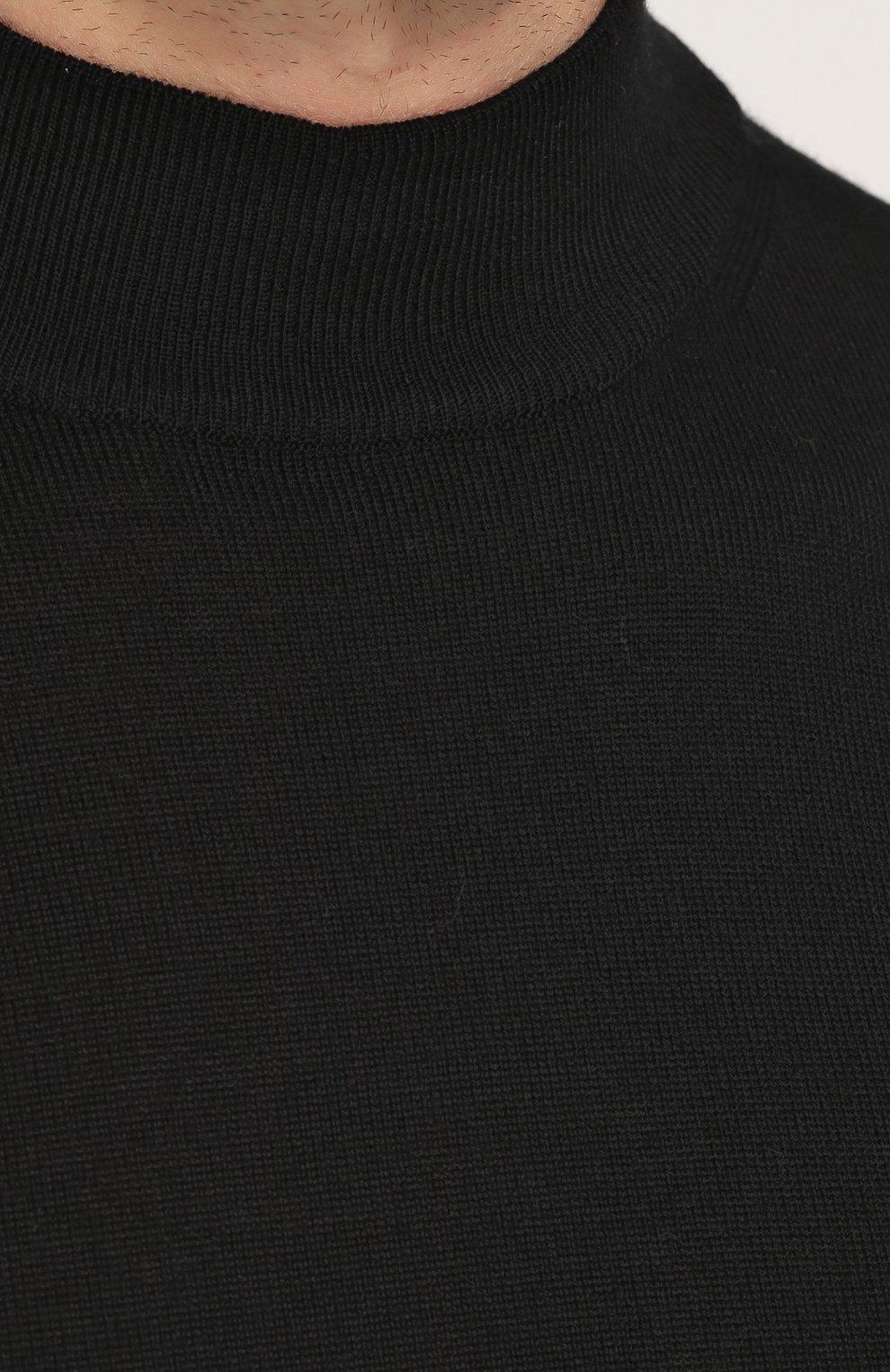 Однотонная шерстяная водолазка   Фото №5