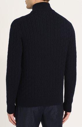 Кашемировый свитер фактурной вязки с воротником на молнии   Фото №4
