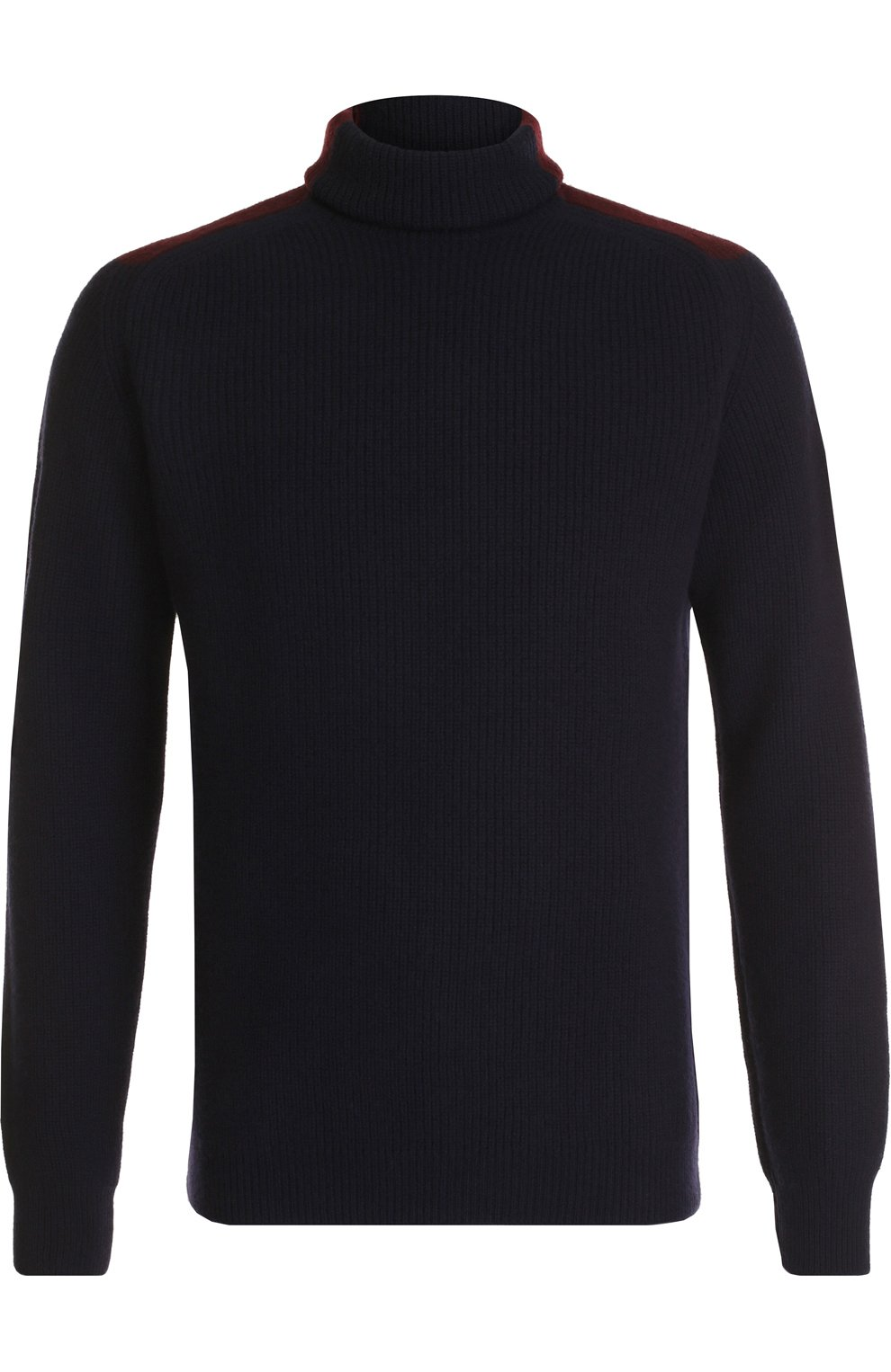Шерстяной свитер фактурной вязки с воротником-стойкой   Фото №1