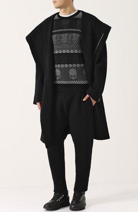 Шерстяной свитер с принтом Gemma. H черный | Фото №1