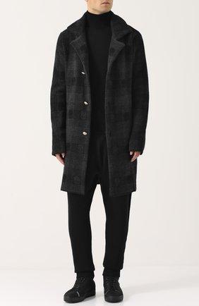 Однобортное шерстяное пальто Gemma. H черного цвета | Фото №1