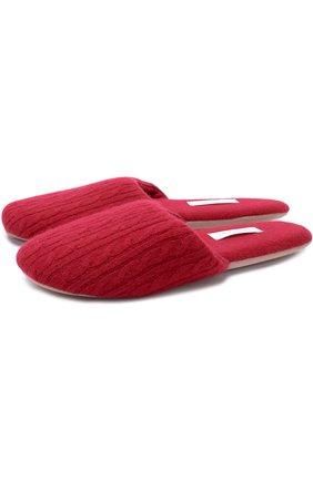 Вязаные домашние туфли | Фото №1