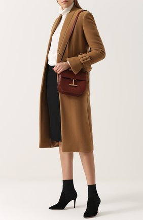 Женская сумка t clasp из кожи питона TOM FORD светло-коричневого цвета, арт. L1018T-PTP   Фото 2