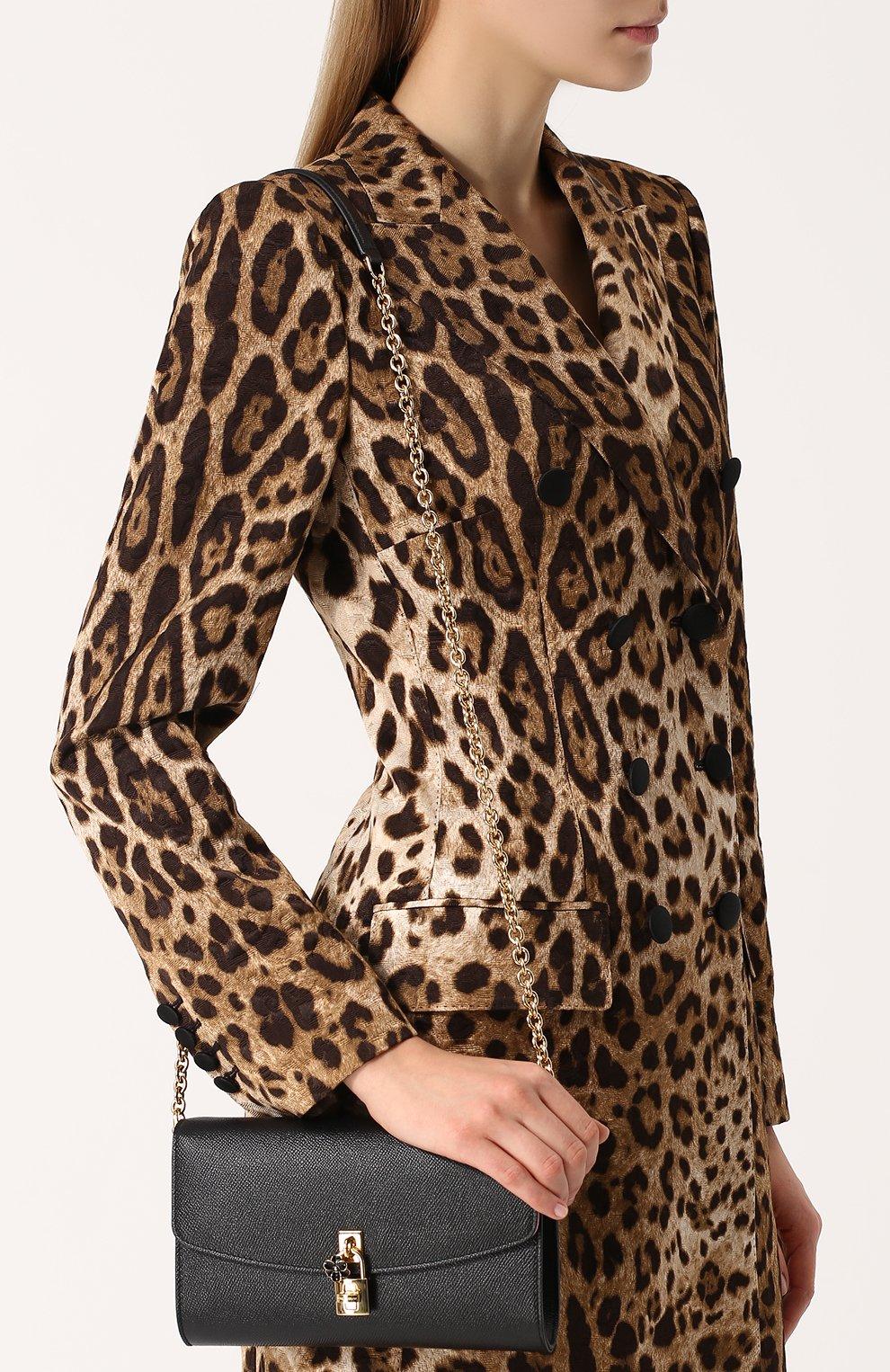 Клатч Dolce на цепочке Dolce & Gabbana черного цвета | Фото №5