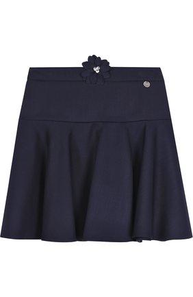 Шерстяная юбка с аппликацией | Фото №1