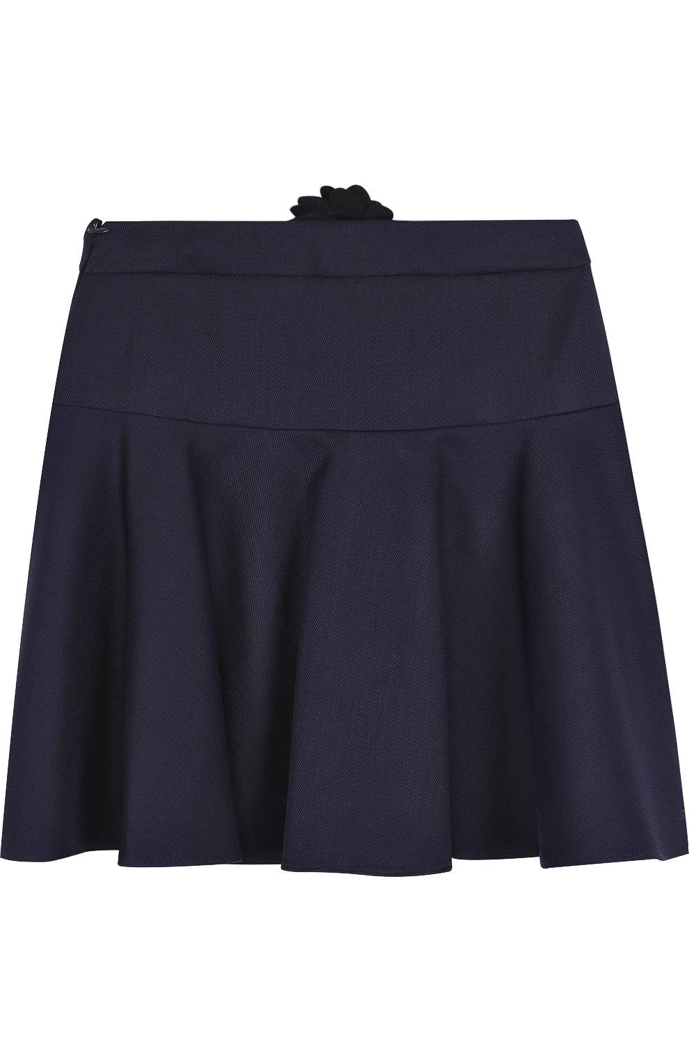 Шерстяная юбка с аппликацией | Фото №2