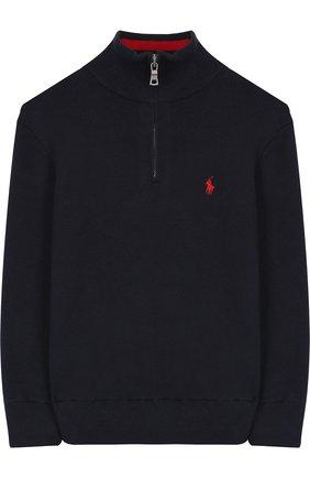 Хлопковый свитер с логотипом бренда | Фото №1
