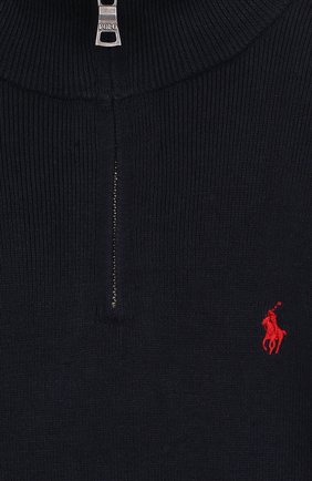 Хлопковый свитер с логотипом бренда | Фото №3