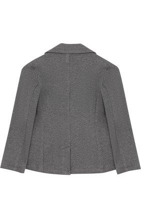 Однобортный пиджак джерси с логотипом бренда   Фото №2