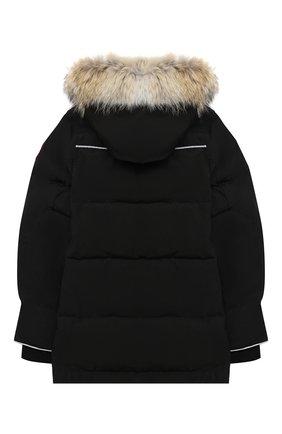 Пуховая куртка Eakin с меховой отделкой на капюшоне | Фото №2