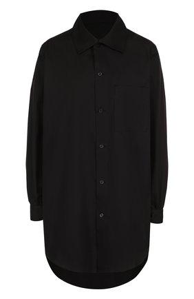 Женская удлиненная хлопковая блуза с накладным карманом Yohji Yamamoto, цвет белый, арт. YK-B11-001 в ЦУМ   Фото №1