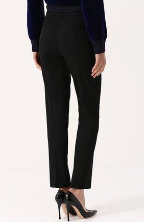 Однотонные шерстяные брюки прямого кроя | Фото №4