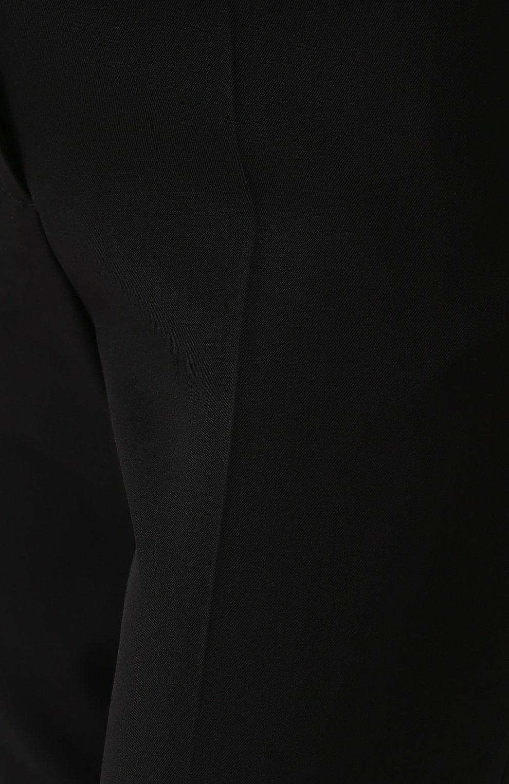 Однотонные шерстяные брюки прямого кроя | Фото №5