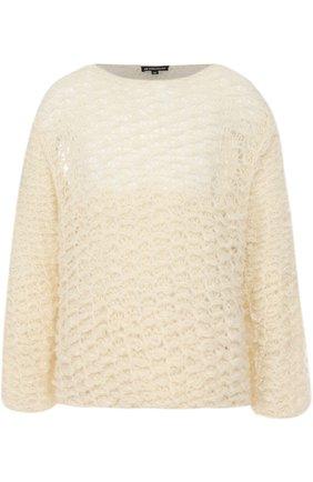 Шерстяной свитер свободного кроя  | Фото №1