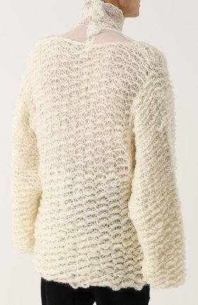Шерстяной свитер свободного кроя  | Фото №4