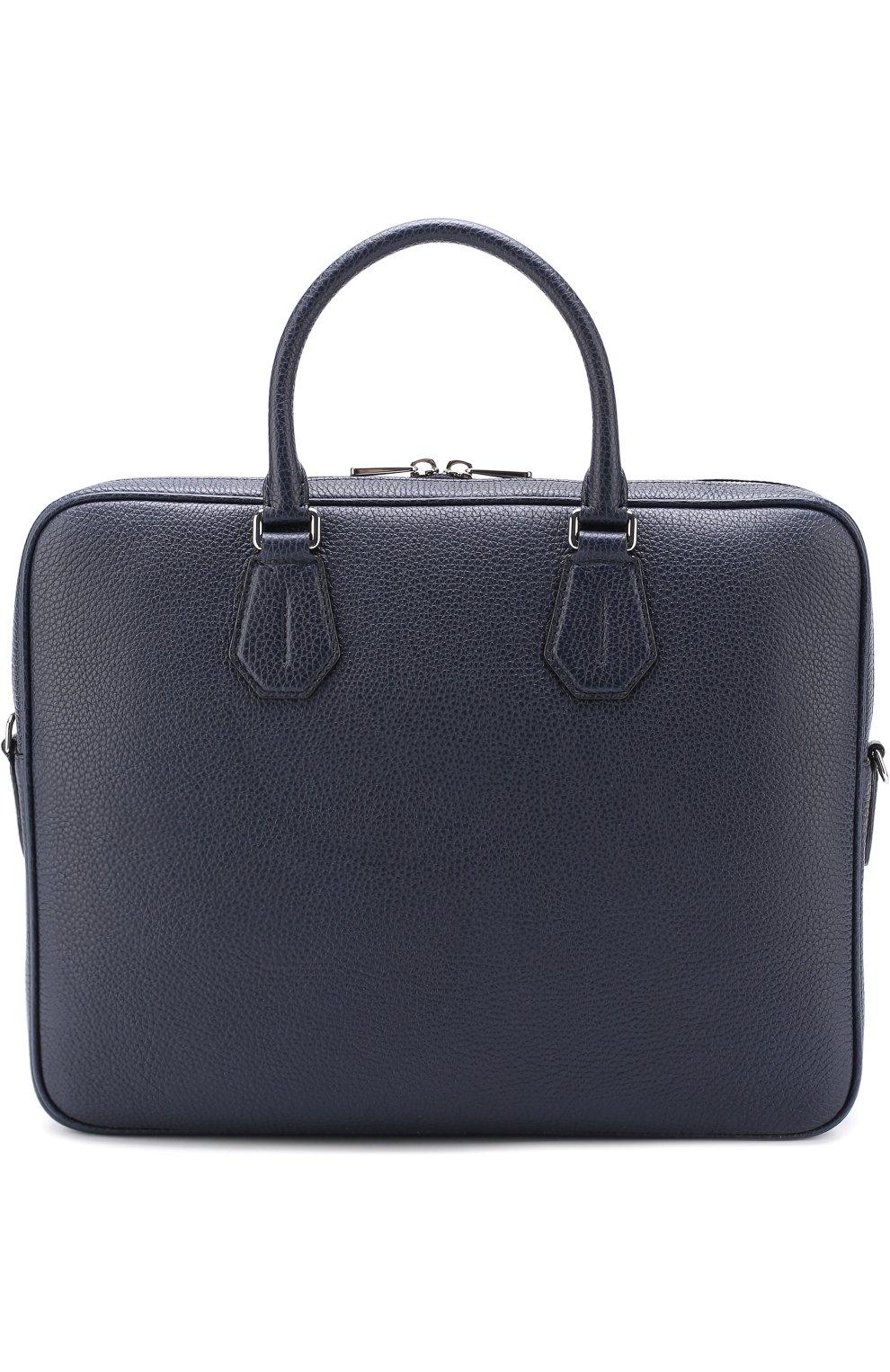 30685ccb73f9 Мужская темно-синего кожаная сумка для ноутбука BALLY — купить за ...