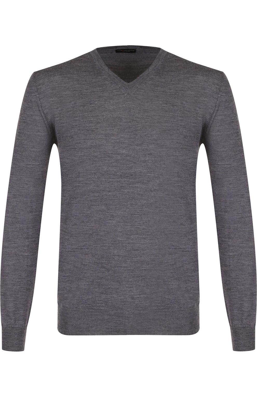 Пуловер из шерсти тонкой вязки   Фото №1