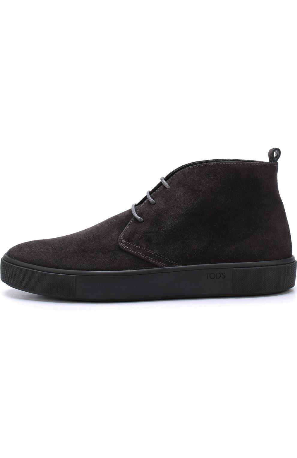 Замшевые ботинки на шнуровке  | Фото №3
