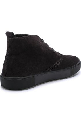 Замшевые ботинки на шнуровке  | Фото №4