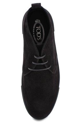 Замшевые ботинки на шнуровке  | Фото №5