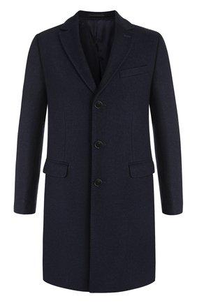 Однобортное пальто с отложным воротником