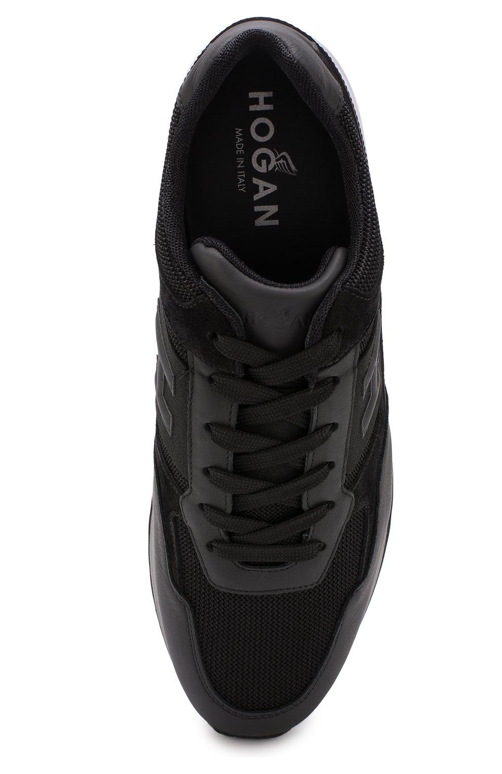 Комбинированные кроссовки на шнуровке | Фото №5