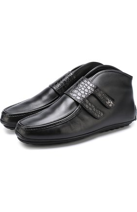 Кожаные ботинки с внутренней меховой отделкой   Фото №1