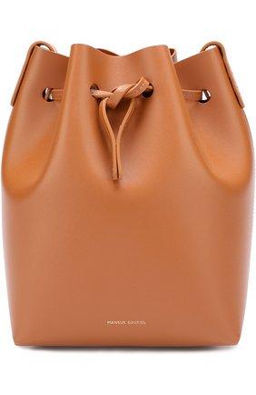 Сумка Mini Bucket Mansur Gavriel коричневая цвета   Фото №1