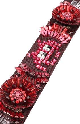Ремень для сумки Space Invaders Anya Hindmarch бордового цвета | Фото №1