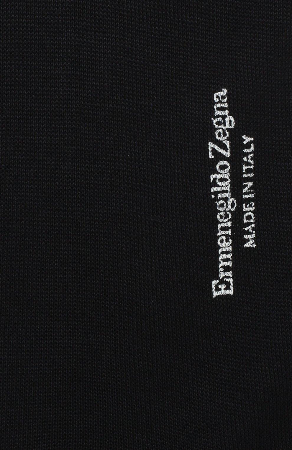 Мужские хлопковые гольфы ERMENEGILDO ZEGNA темно-синего цвета, арт. N4V100020 | Фото 2