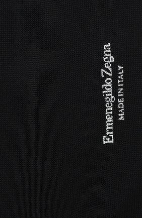 Мужские хлопковые гольфы ERMENEGILDO ZEGNA темно-синего цвета, арт. N4V100020 | Фото 2 (Материал внешний: Хлопок; Кросс-КТ: бельё)