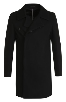 Пальто прямого кроя из смеси шерсти и кашемира | Фото №1