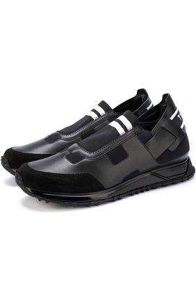 Комбинированные кроссовки без шнуровки