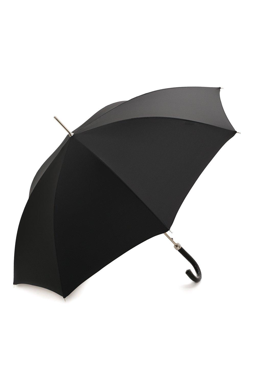 Мужской зонт-трость PASOTTI OMBRELLI черного цвета, арт. 478/NIAGARA 7079/8/N37   Фото 2