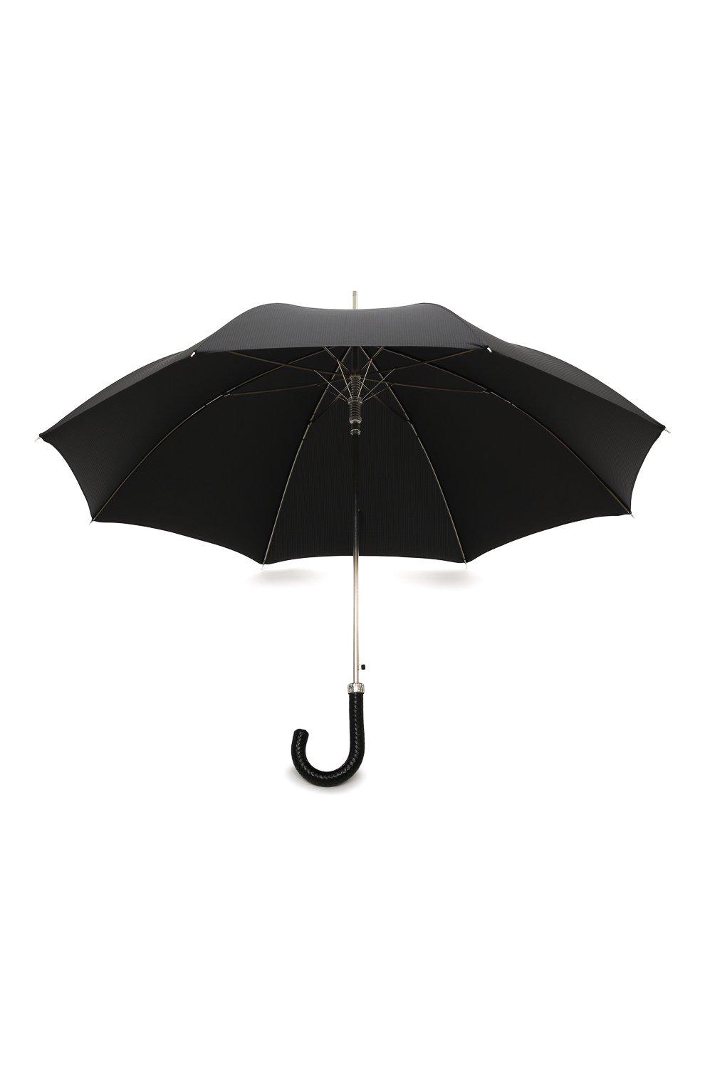 Мужской зонт-трость PASOTTI OMBRELLI черного цвета, арт. 478/NIAGARA 7079/8/N37   Фото 3