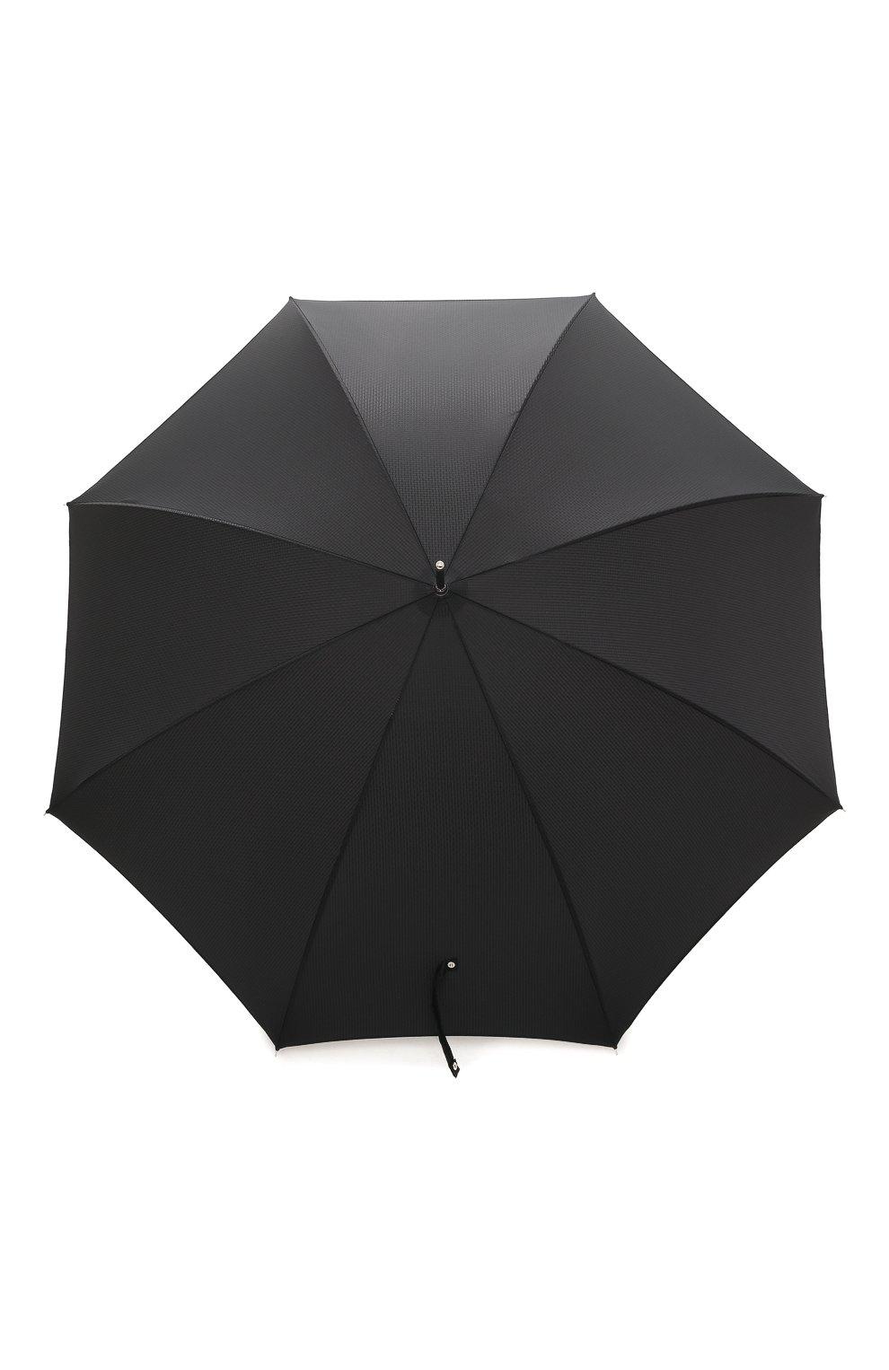 Мужской зонт-трость PASOTTI OMBRELLI черного цвета, арт. 478/NIAGARA 7079/8/W09 | Фото 1 (Материал: Текстиль, Синтетический материал, Металл; Статус проверки: Проверено, Проверена категория)