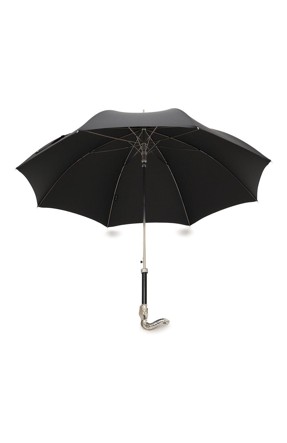 Мужской зонт-трость PASOTTI OMBRELLI черного цвета, арт. 478/NIAGARA 7079/8/W09 | Фото 3 (Материал: Текстиль, Синтетический материал, Металл; Статус проверки: Проверено, Проверена категория)