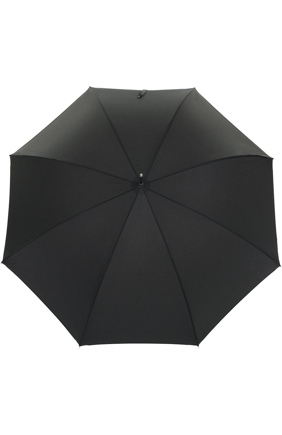 Мужской зонт-трость с отделкой кристаллами swarovski PASOTTI OMBRELLI черного цвета, арт. 478/NIAGARA 7079/8/W333 | Фото 1