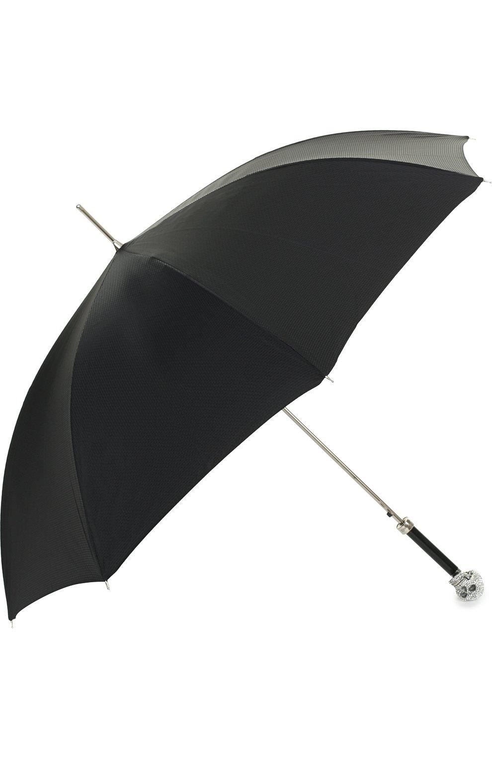 Мужской зонт-трость с отделкой кристаллами swarovski PASOTTI OMBRELLI черного цвета, арт. 478/NIAGARA 7079/8/W333 | Фото 2