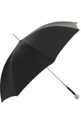 Зонт-трость с отделкой кристаллами Swarovski | Фото №2
