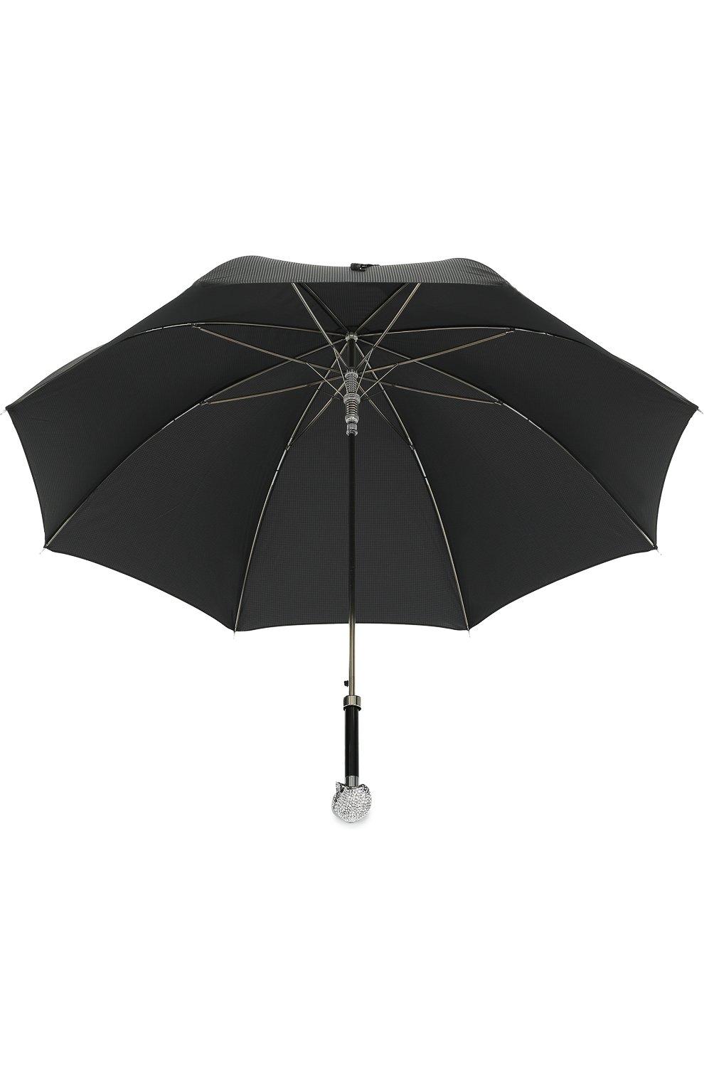 Мужской зонт-трость с отделкой кристаллами swarovski PASOTTI OMBRELLI черного цвета, арт. 478/NIAGARA 7079/8/W333 | Фото 3