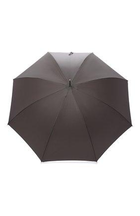 Мужской зонт-трость PASOTTI OMBRELLI серого цвета, арт. 478/RAS0 6768/7/W18   Фото 1 (Статус проверки: Проверено, Проверена категория; Материал: Металл, Текстиль, Синтетический материал)
