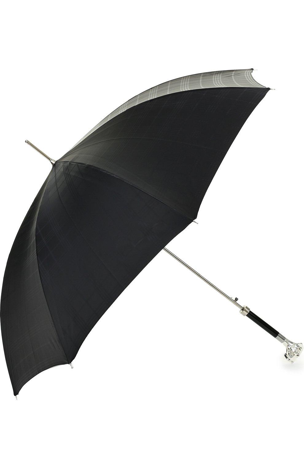 Мужской зонт-трость PASOTTI OMBRELLI черного цвета, арт. 478/RAS0 6434/19/W27 | Фото 2