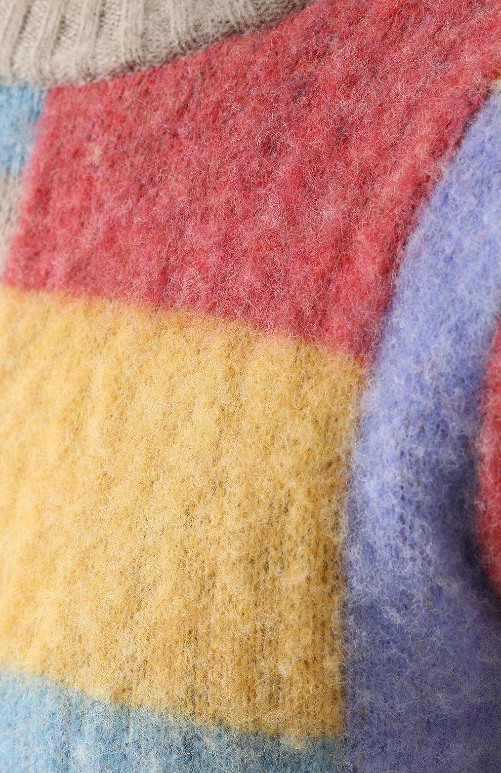 Пуловер из шерсти тонкой вязки с контрастной отделкой   Фото №5