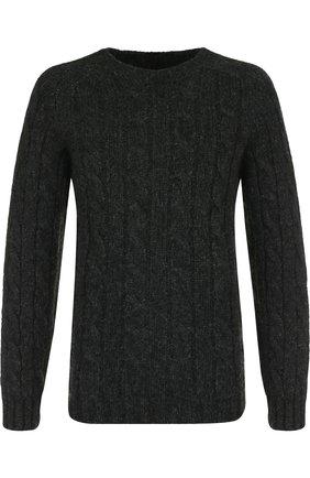 Шерстяной свитер фактурной вязки Howlin темно-синий | Фото №1