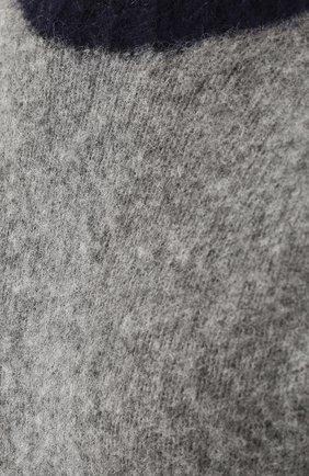 Пуловер из шерсти тонкой вязки с контрастной отделкой | Фото №5