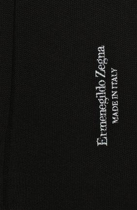 Мужские хлопковые носки ERMENEGILDO ZEGNA черного цвета, арт. N4V400010 | Фото 2