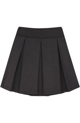 Детская юбка с защипами ALETTA темно-серого цвета, арт. AF555086NL/9A-16A | Фото 2