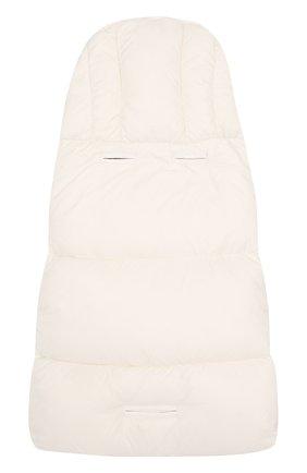 Детский пуховый конверт с логотипом бренда MONCLER ENFANT белого цвета, арт. C2-951-00828-05-53079 | Фото 2