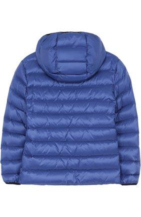 Пуховая куртка с капюшоном Fay Junior синего цвета | Фото №1